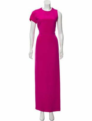 Akris Silk Evening Dress Magenta