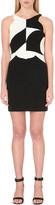 Antonio Berardi Colour-block wool-crepe dress