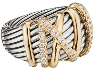 David Yurman Helena 18K Yellow Gold & Pave Diamond Ring