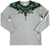 Marcelo Burlon County of Milan Snake Printed Cotton Jersey T-Shirt