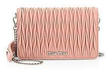 Miu Miu Women's Matelassé Metallic Leather Chain Wallet