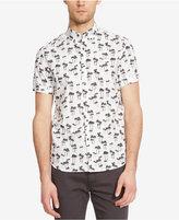 Kenneth Cole New York Men's Palm-Print Short-Sleeve Shirt