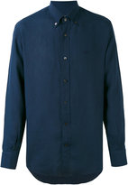 Salvatore Ferragamo classic shirt - men - Linen/Flax - L