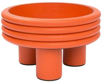 Scala Stephane Parmentier tall leather bowl mango