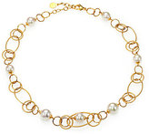 Majorica 10MM-12MM White Pearl Open-Link Necklace