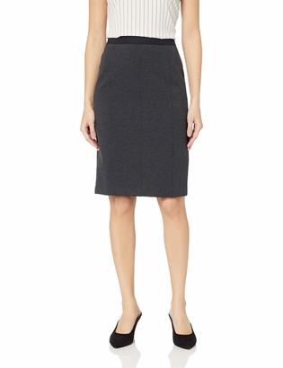 Lark & Ro Amazon Brand Women's Knit Jaquard Pencil Skirt