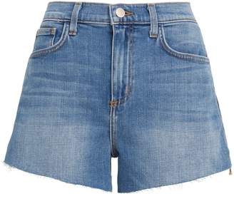 L'Agence Ryland Zipper-Accented Denim Shorts