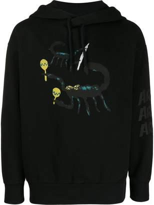 Aries scorpion print hoodie