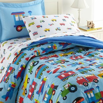 Wildkin Trains, Planes & Trucks 5 pc Cotton Bed in a Bag - Twin