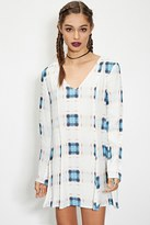 Forever 21 FOREVER 21+ Evil Twin Abstract Plaid Dress