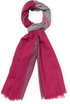 "Badgley Mischka Women's Lightweight Colorblock Merino Wool Long Scarf, 82"" x 32"""