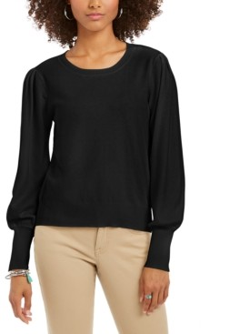 Style&Co. Style & Co Pull-Sleeve Blouson Sweater, Created for Macy's