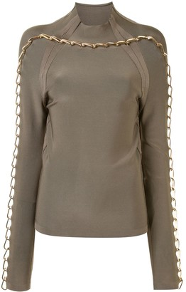 Dion Lee Chain Link Knitted Top