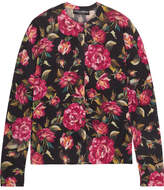 Dolce & Gabbana Floral-print Cashmere Cardigan - Pink