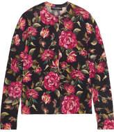 Dolce & Gabbana Floral-print Cashmere Cardigan
