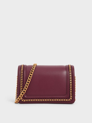 Charles & Keith Chain Rimmed Crossbody Bag