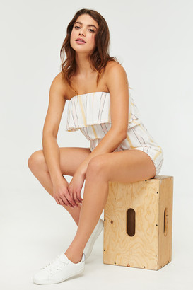 Ardene Strapless Striped Romper