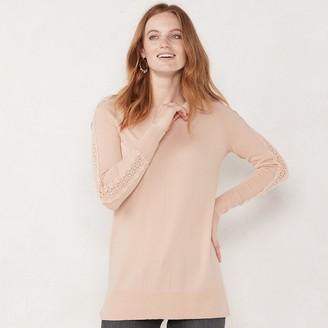 Lauren Conrad Women's Lace-Sleeve Top