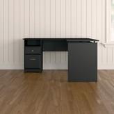 "Hillsdale Height Adjustable L-Shape Standing Desk Converter Red Barrel Studio Color: Espresso Oak, Size: 29.96"" H x 60"" W x 66.12"" D"