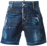 DSQUARED2 Bermuda bleached distressed shorts - men - Cotton/Spandex/Elastane - 52