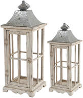 A&B Home Set Of 2 Evelyn Enclosed Lanterns