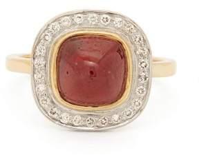 Jade Jagger Diamond, Spinel & 18kt Gold Ring - Womens - Red
