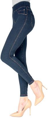 Me Moi MeMoi Women's Leggings Blue - Blue Denim Shaping Jeggings - Women