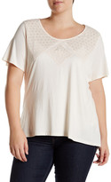 Halo Embroidered Short Sleeve Tee (Plus Size)