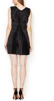 Bally Silk Pleated V-Neck Dress