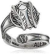 Alex and Ani Spoon Godspeed Sterling Silver Sterling Silver Ring, Size 7-9