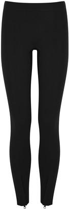 Reebok x Victoria Beckham Black stretch-polyamide ankle-zip leggings