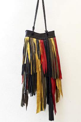 Areias Leather Rasta Fringes Bag