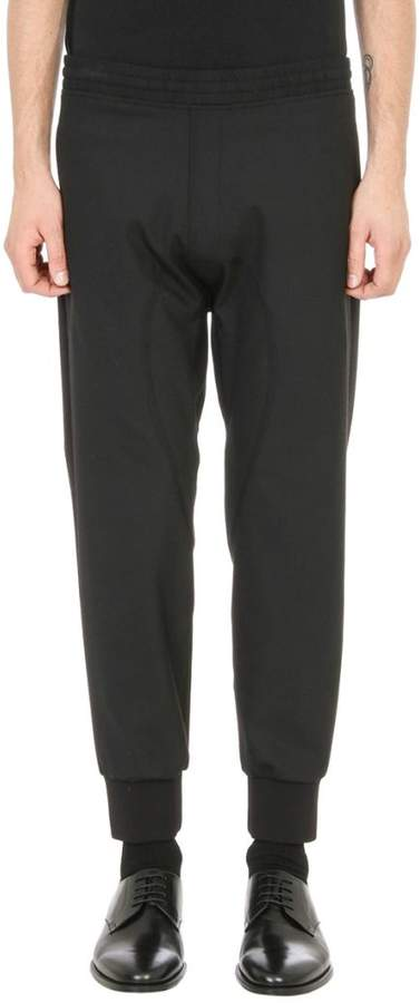 Neil Barrett Elasticated Waistband Black Wool Pants