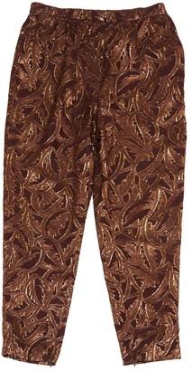 Lanvin Brown Silk Trousers
