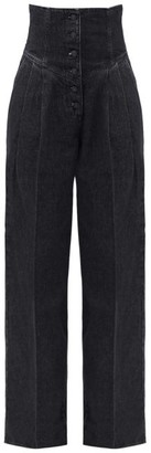 Made In Tomboy - Still High-rise Wide-leg Jeans - Black