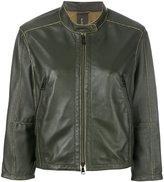 Luisa Cerano leather stitch detail jacket