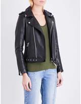 Maje Bocelui leather biker jacket