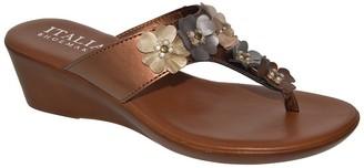 Italian Shoemakers Zane Flower Embellished Sandal