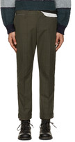 Sacai Green Box Check Trousers