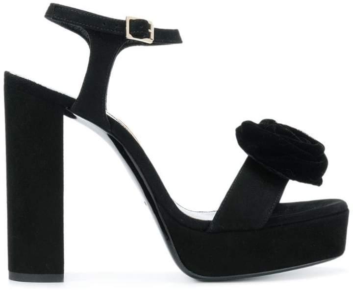 Lanvin flower platform sandals