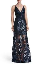 Dress the Population Women's 'Vivienne' Sequin Lace Gown