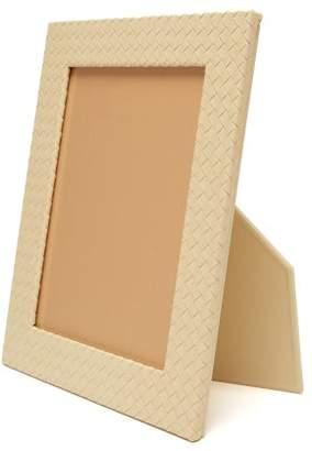 Bottega Veneta Intrecciato Leather Photo Frame - Cream