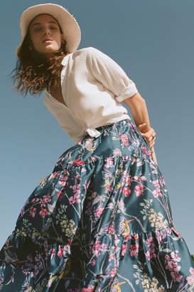 Denovo Tracie Tiered Maxi Skirt