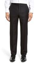 Hickey Freeman Men's Flat Front Wool Formal Trousers