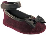 Luvable Friends Ankle Strap Velvet Ballet Flat