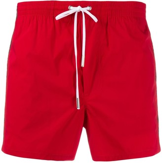 DSQUARED2 Logo Stripe Swim Shorts