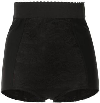 Dolce & Gabbana High Rise Lace Shorts