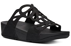 FitFlop Women's Bumble Glitter Slide Sandals