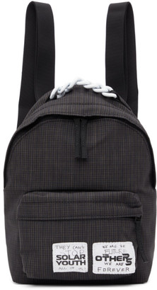 Raf Simons Black Eastpak Edition Check Pakr Backpack