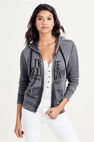 True Religion Burnout Logo Womens Hoodie